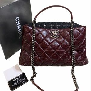 Chanel Portobello medium quilted CC calfskin tote